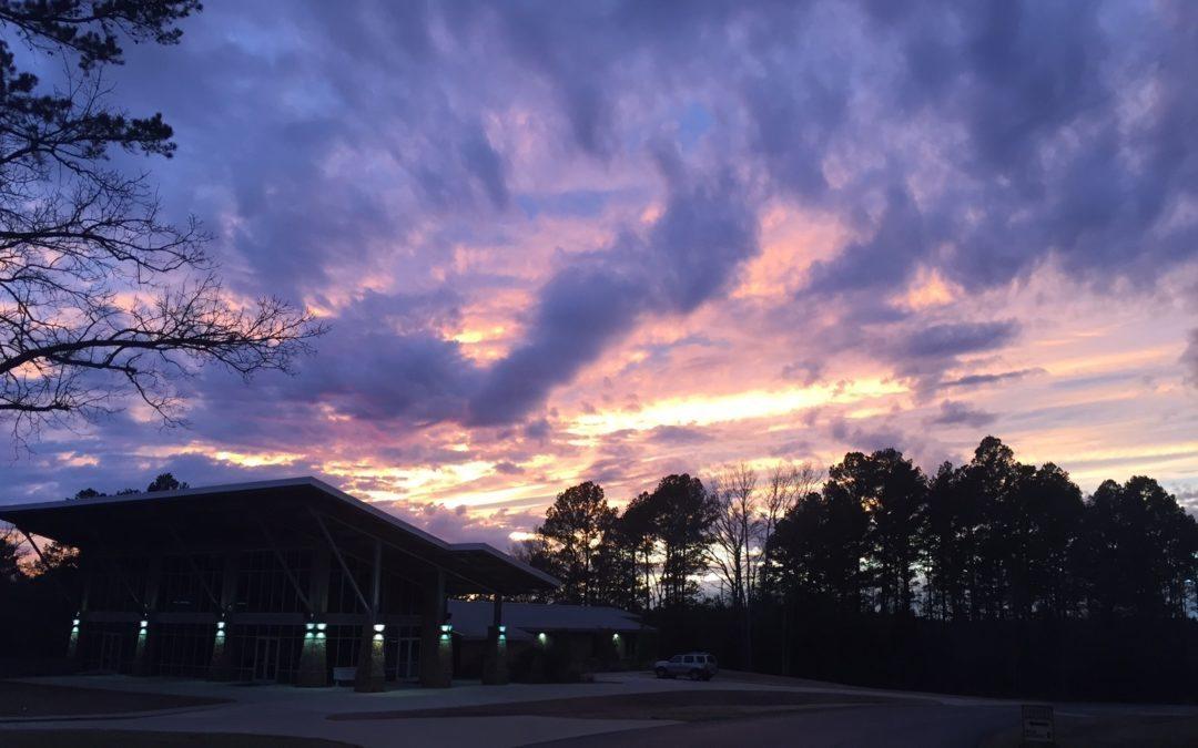SSBC Student Building Sunset